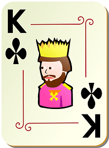 Ornamental Deck: King of Clubs clipart