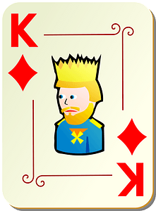 Ornamental Deck: King of Diamonds clipart