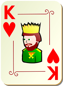 Ornamental Deck: King of Hearts clipart