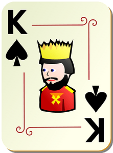 Ornamental Deck: King of Spades clipart