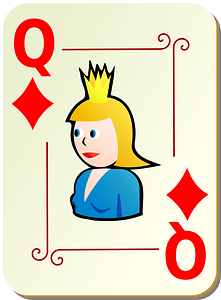 Ornamental Deck: Queen of Diamonds clipart