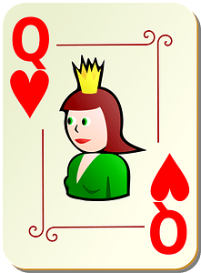 Ornamental Deck: Queen of Hearts clipart