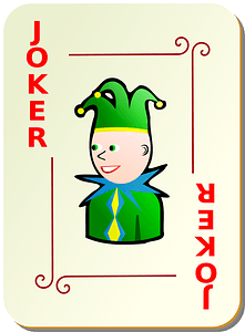 Ornamental Deck: Red Joker clipart