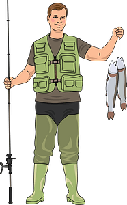 Fisherman clipart