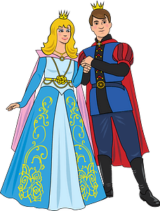 Prince and Princess clipart