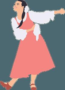 Dancing girl clipart