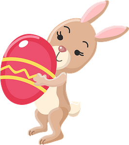 Rabbit with Easter egg clipart