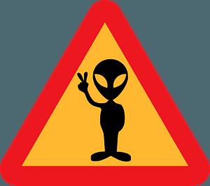 Warning for Aliens clipart