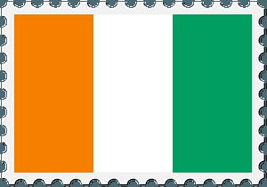 Stamp Ivory Coast Flag clipart