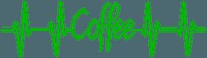 Coffee heartbeat clipart