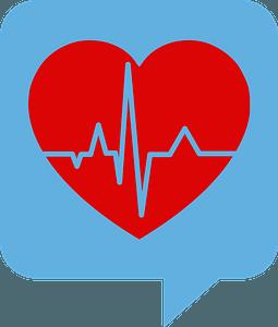 Heartbeat balloon clipart