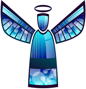 Stylised angel clipart