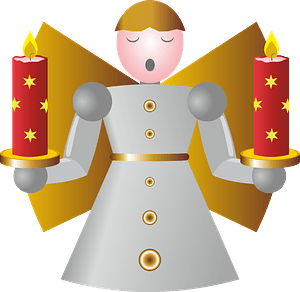 Christmas angel with Advent candles 剪贴画