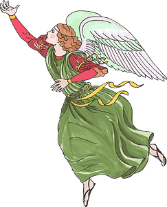 Christmas angel clipart