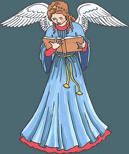 Christmas angel 剪贴画