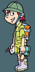 Traveler kid clipart