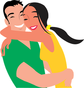 Happy couple clipart
