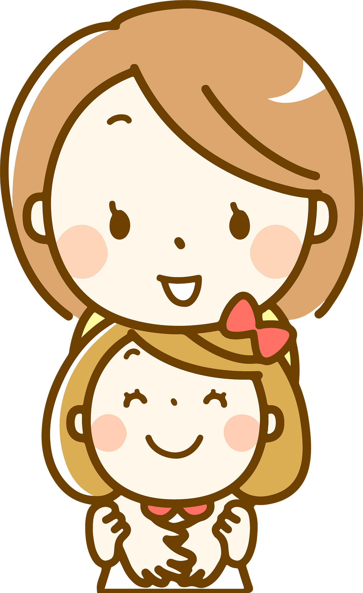 mother and daughter hugging clipart. free download transparent .png |  creazilla  creazilla