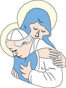 Our Lady and the Pope clipart