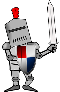 Warrior in armor suit clipart