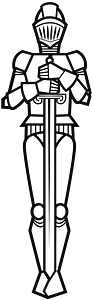 Standing knight clipart