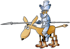 Knight on a horse clipart