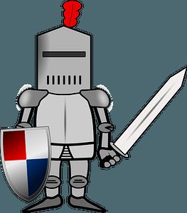 Chibi knight clipart