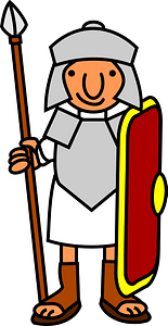 Warrior with a spear clipart