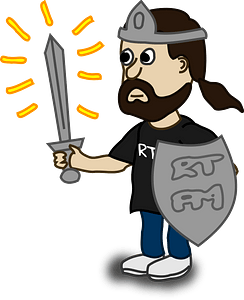 Man with a sword clipart