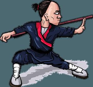 Monk Warrior clipart