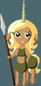 Centaur warrior clipart