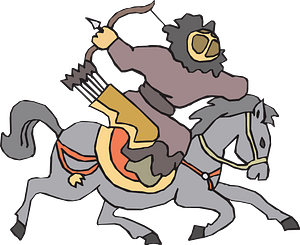 Archer on a horse clipart
