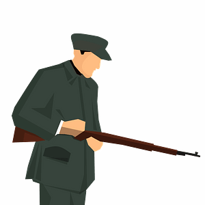 Armed man clipart