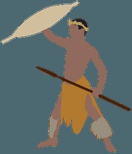 African Warrior clipart