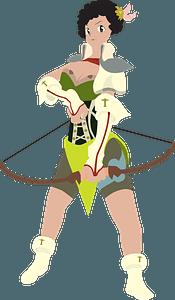 Archer girl clipart