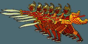 Ancient warriors clipart