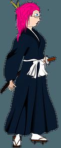 Samurai woman clipart