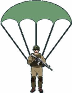 Parachute soldier clipart