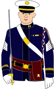 Navy soldier clipart