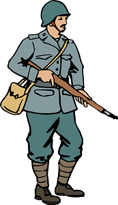 Italian soldier of WW2 clipart