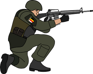 Soldier in battle clipart