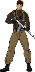 Elite military soldier clipart