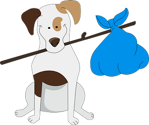 Dog with a sack clipart