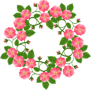Wreath Flowers Romantic clipart