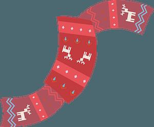 Christmas scarf clipart