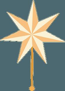 Christmas star klipart