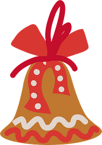 Gingerbread bell clipart