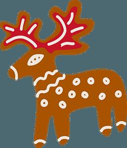 Gingerbread deer clipart