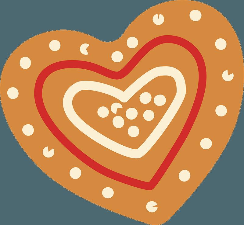 Gingerbread heart clipart