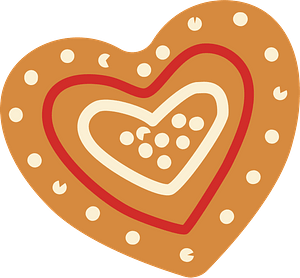 Gingerbread heart clipart